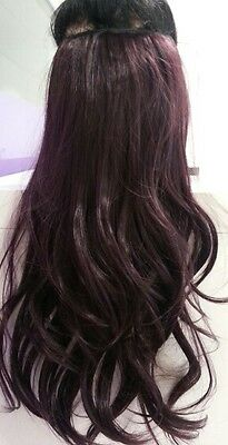 """One Piece Clip In Hair Extensions 18"""" 20""""22"""" 26"""" Thick Like Human full head 100%"""