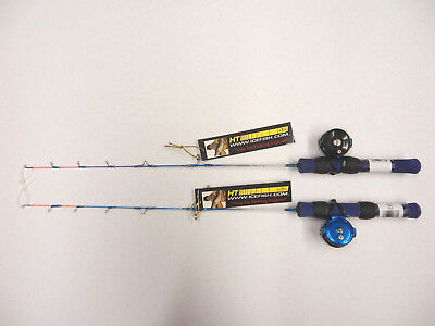 """Ice Blue Combo comes w/MFR-1 Reel & 24"""" IB-24 Rod, You Get 2 Sets, for Pan Fish"""