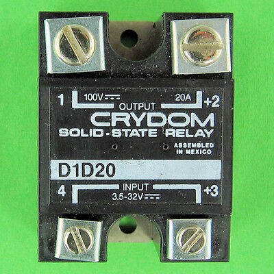 Crydom D1D20 Solid State Relay SSR 20A DC Power Switching 3.5 - 32 V VDC Control