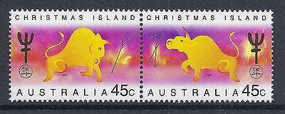 1997 Christmas Island Year Of The Ox Set Of 2 Fine Mint Mnh/muh