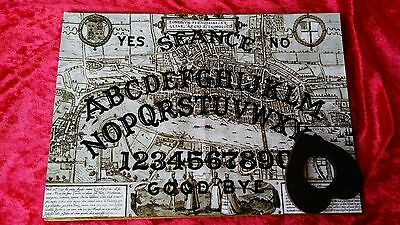 Acrylic Ouija Seance Board Planchette Bizarre Jack the Ripper weeja Ghost Witch