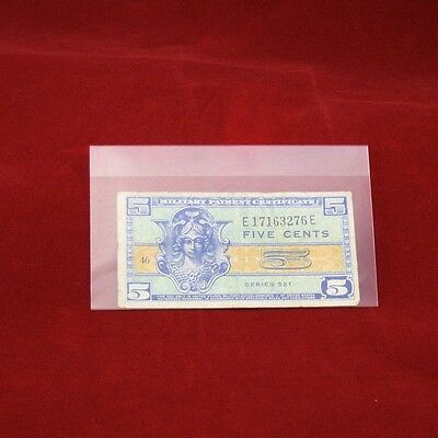 100 Museum Grade Archival Mylar Currency Sleeves for Fractional Currency MG430