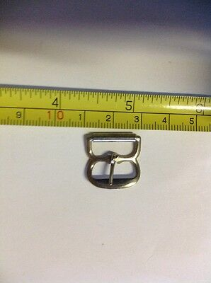 15mm Buckle, Silver Coloured, With Roller