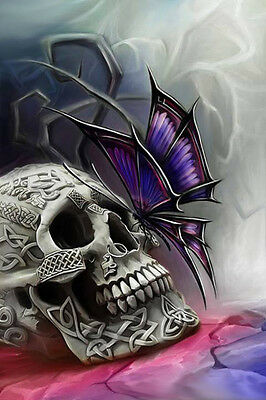 Skull And Butterfly Cross Stitch Chart Bn!