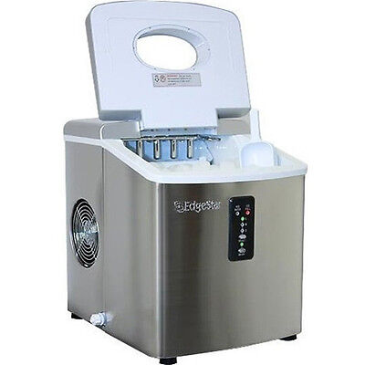 ... Steel Portable Ice Maker, Compact Countertop Machine, EdgeStar IP210SS