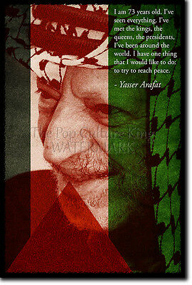 Yasser Arafat Art Print Photo Poster Gift Quote Palestine Palestinian Leader