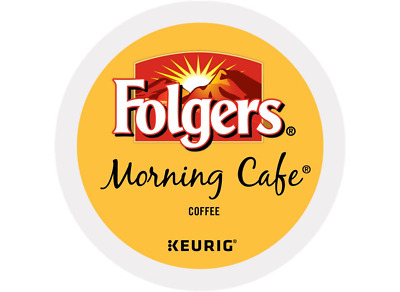 Folgers, Morning Cafe Coffee, Light Roast, Keurig K-Cups, 96-Count