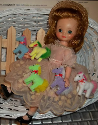 "5 Colorful Toy Ponies for  Betsy McCall Ginny and other 8""dolls"