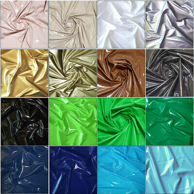 Shiny High Gloss Stretch Pu Latex Rubber Vinyl Pleather Gothic Fetish Fabric 54""
