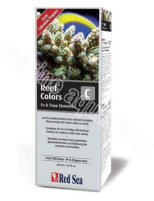 RED SEA REEF COLOURS C IRON 500ml, ADDITIVE, MARINE, CORAL, FISH