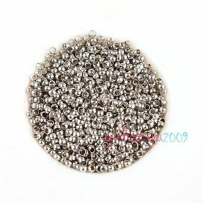 1000x New Round Crimp Stopper Spacer Beads 2mm 1602061