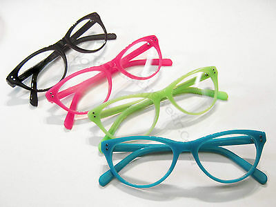 Hornrim Cat Eye Reading Glasses Aqua Turquoise Mint Green Black Hot Pink Tortois