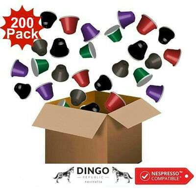 200 Nespresso Compatible Coffee Pods - VARIETY CAPSULES PACK (5 PREMIUM BLENDS)