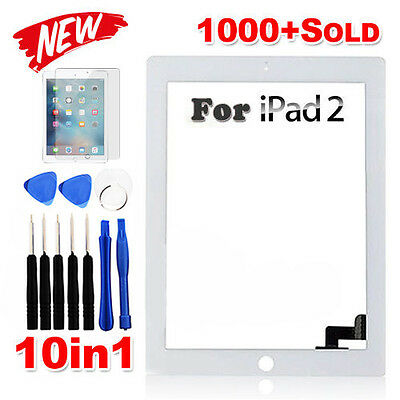 Premium Digitizer Replacement Front Glass Touch Screen Lens for iPad 2 White