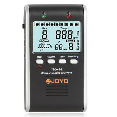 JOYO JM-90 Digital Rechargeable Metronome with Voice For all Musical Instruments