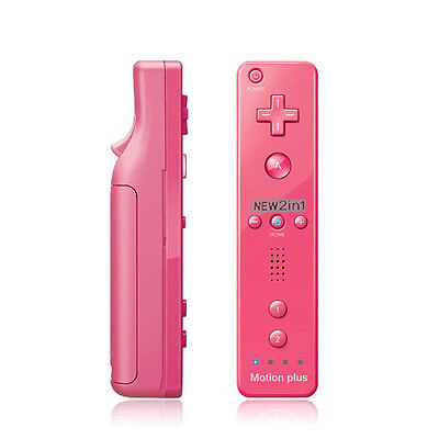 Wiimote Built in Motion Plus Inside Remote Controller For Nintendo Wii Game Pink