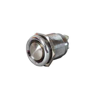 Stainless Steel Push Button Switch - Momentary On - Horn Screenwash Starter 20A