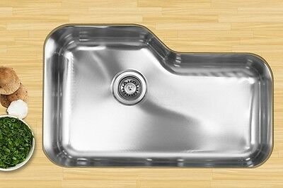 UKINOX DX760 SINGLE Basin Stainless Steel Undermount Kitchen Sink ...