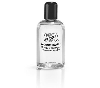 Mehron Mixing Liquid 4.5 oz Stage Makeup Base Liquid  Body & Face Paint Cosmetic