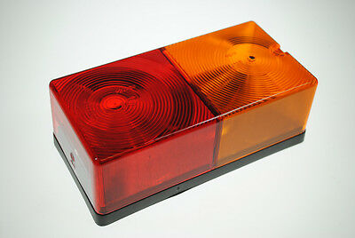 Pair of Large Oblong 4 function rear lamps/lights for Caravans/Trailers etc