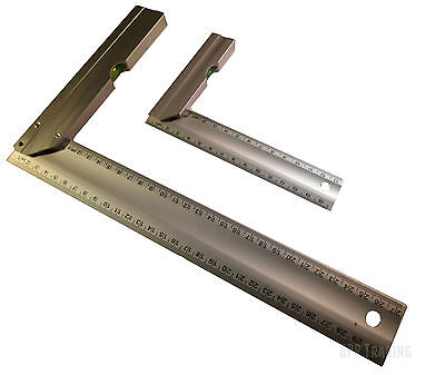 "150mm (6"") OR 300mm (12"") Engineers Try Square Set Right Angle Guide With Level"
