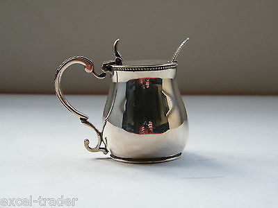 Antique Silver Plate Mustard Salt Pot By Elkington & Co 1866?