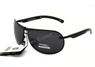 Matrix Collection Polarized Sunglasses for Driving, Grey Smoke Lenses Cat 3