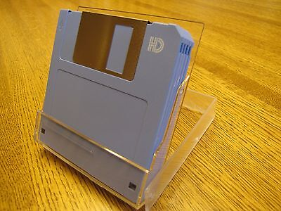"5-pack 3.5"" DS/HD 1.44MB MF-2HD IBM Format Clear Case All New Floppy Disks"