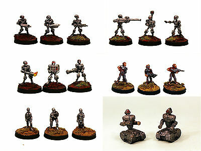 15mm Unpainted Sci-Fi Automatons-'Hordes of The Future' Miniatures Multi-Listing