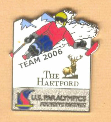 2006 TORINO WINTER OLYMPIC DOWN HILL PARALYMPIC SKIING PIN FOR THE HARTFORD GP
