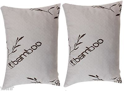 Set of Standard Bamboo Cover Shredded Memory Foam Pillow,100% Washable,USA Made
