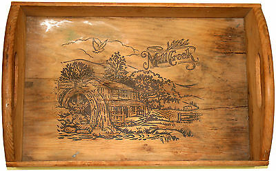 Vintage Mill Creek Wooden Tray