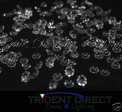 1000x 10mm Acrylic Crystal Diamond Confetti Table Scatters Clear Vase Fillers