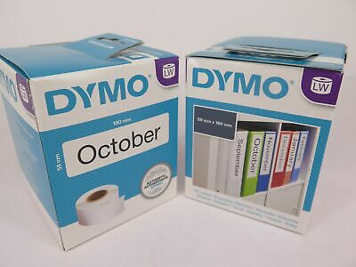 2 Pack Dymo Labelwriter White For Lever Arch 59 x 190mm SD99019