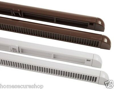 X4 Trickle Slot Vents 300mm or 400mm Night Ventilation. UPVC & Wooden Windows
