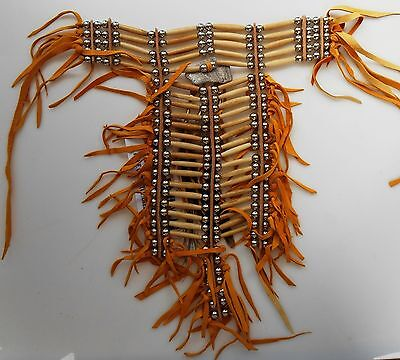 Native American Navajo 21 rows 2 columns Breastplate hand made by 1 or 2 artists