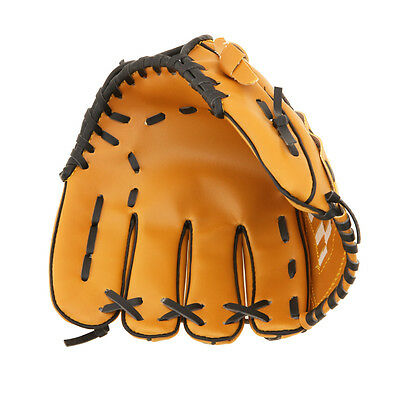 12.5'' Baseball Glove Softball Mitts Brown Youth Outdoor Team Sports Left Hand
