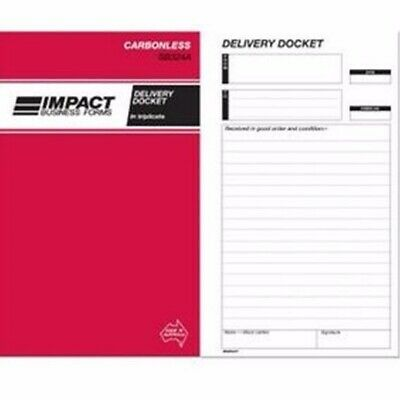 1 x Impact Delivery Docket Book Carbonless 203x127 Triplicate SB324A