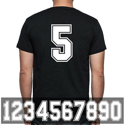 Iron On heat transfer number for uniform or sports jersey - WHITE