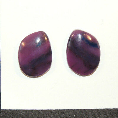 Sugilite Cabochons 17x12mm with 3.5mm dome from South Africa set of 2 (6578)