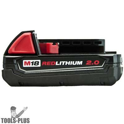 Milwaukee 18 Volt M18 Red Lithium 2.0 Compact Battery 48-11-1820 NEW