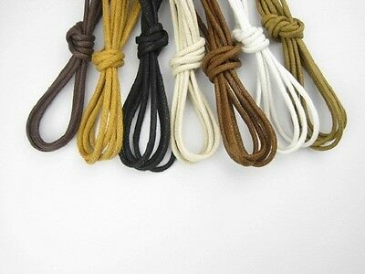 Buy 2 Get 1 Free,Round Wax Laces Waxed Shoelace String for Leather Shoe Boot