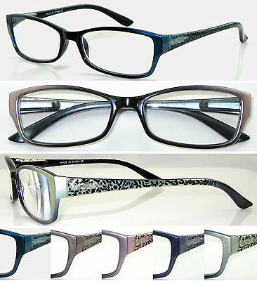 L376 Superb Quality Womens Graceful Reading Glasses/Spring Hinge & Vintage Color