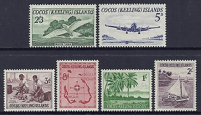 1963 COCOS ISLANDS PICTORIAL DEFINITIVES SET OF 6 FINE MINT MNH/MUH our ref SPC1