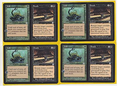 MTG Magic  4  x  Life//Death  Apocalypse Uncommon Play Set  Never Played * HOT