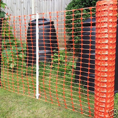 Orange Plastic Barrier Mesh Fencing Dog Pet Chicken Event Heavy Duty 7kg 1 x 50m