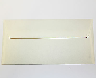 10-1000 Dl Envelopes - Cream - Gummed Straight Flap
