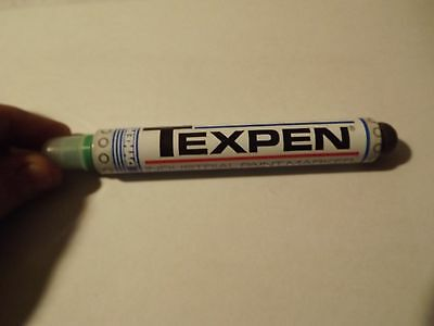 Dykem Texpen - Paint Pen   ((( GREEN )))   Label Parts Quick   Medium Tip
