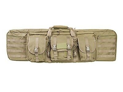 "NcSTAR VISM 42"" Double Carbine Padded Rifle Gun Case w/ Mag Pouches MOLLE Tan"