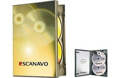 NEW! 1 Scanavo Premium Double Disc DVD Case 14mm Black - Holds 2 discs - Two